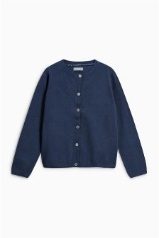 Navy Tipped Cardigan (3-16yrs)