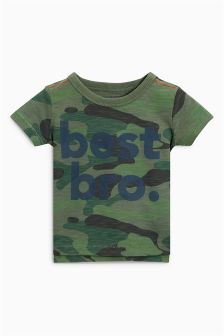 Camouflage Best Bro T-Shirt (3mths-6yrs)
