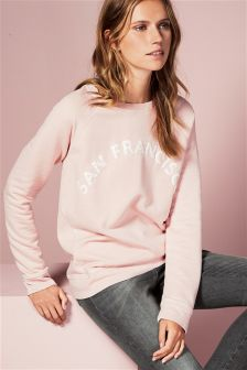 Pink San Francisco Sweat Top