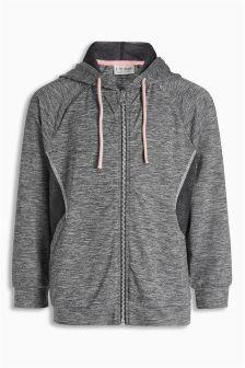 Grey Sporty Zip Through Hoody (3-16yrs)
