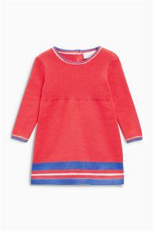 Coral Knit Dress (0mths-2yrs)