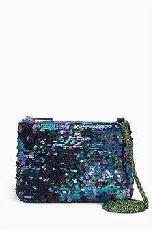 Blue/Green Mermaid Sequin Envelope Bag
