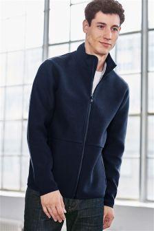 Navy Zip Through Fleece Jacket