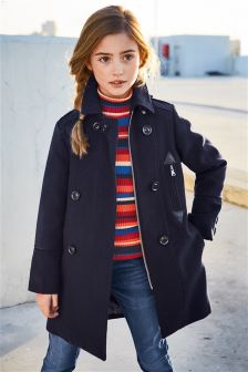 Navy Military Coat (3-16yrs)