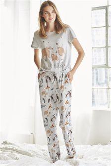 Grey Bear Hugs Pyjamas