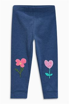 Blue Flower Leggings (3mths-6yrs)
