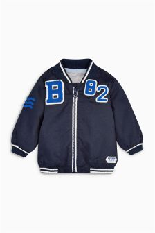Navy Badged Casual Jacket (0mths-2yrs)