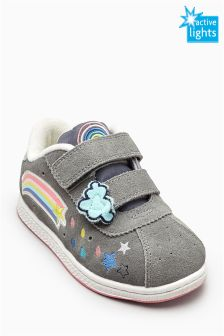 Grey Light-Up Trainers (Younger Girls)