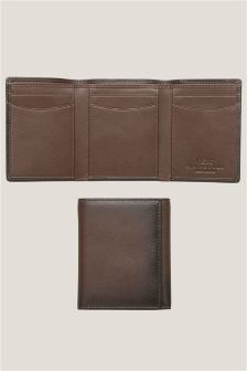 Brown Leather Tri Fold Wallet
