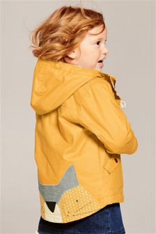 Ochre Cat Appliqué Jacket (3mths-6yrs)