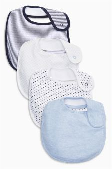 Blue Bibs Four Pack