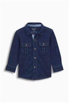 Indigo Jersey Long Sleeve Shirt (3mths-6yrs)