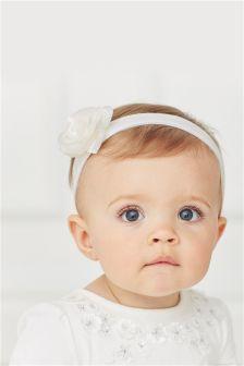 Cream Flower Headband (0-18mths)