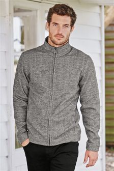 Grey Zip Through Jacket