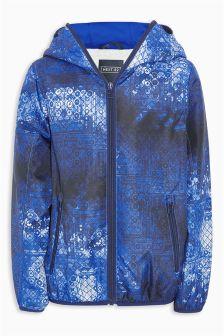 Blue/White Sporty Printed Anorak (3-16yrs)