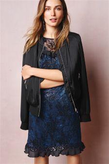 Blue/Black Lace Dress