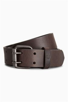 Brown Two Prong Leather Belt