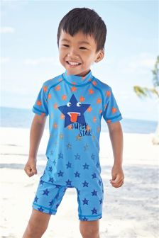 Blue Star Print Sunsafe Suit (3mths-6yrs)