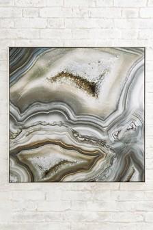 Framed Sparkle Gem Canvas