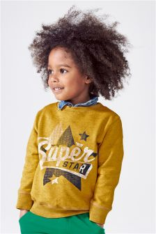 Ochre Superstar Crew Neck Top (3mths-6yrs)