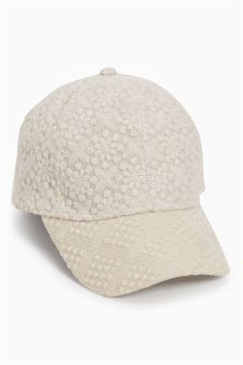 Cream Broderie Cap (Older Girls)