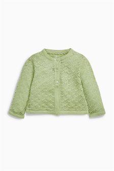 Green Knit Cardigan (0mths-2yrs)
