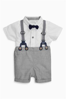 Grey Shorts And Braces Set (0mths-2yrs)