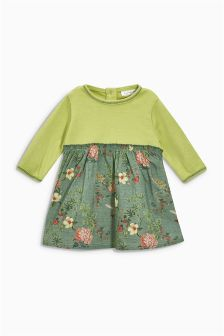 Khaki Print Dress (0mths-2yrs)