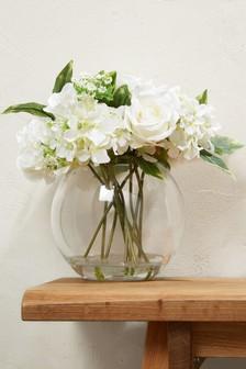 Luxury White Floral Bowl