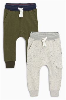 Khaki/Cream Skinny Neppy Joggers Two Pack (3mths-6yrs)