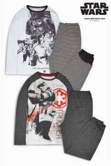 Charcoal Star Wars™ Pyjamas Two Pack (3-12yrs)