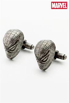 Silver Tone Spider-man™ Cufflinks