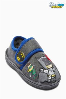 Grey Scribblenauts Slippers (Younger Boys)