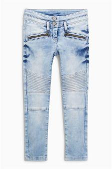 Denim Snow Wash Biker Jeans (3-16yrs)
