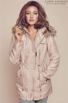 Lipsy Love Michelle Keegan Hooded Parka Jacket