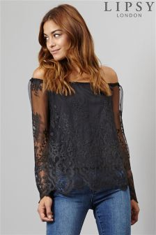 Lipsy Lace Bardot Top