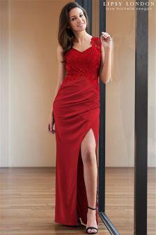 Lipsy Love Michelle Keegan Sequin Lace Side Maxi Dress
