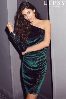 Lipsy One Shoulder Sequin Dress