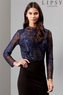 Lipsy Embroidered Lace Trim Blouse