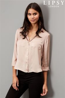 Lipsy Pocket Satin Shirt