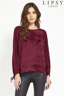 Lipsy Satin Cut Out Blouse