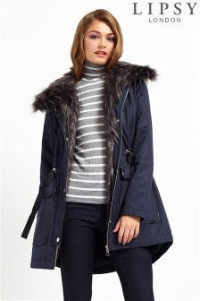 Lipsy Faux Fur Trim Parka
