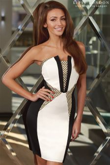 Lipsy Love Michelle Keegan Mesh Panel Bandeau Dress