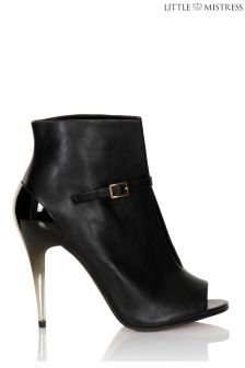 Little Mistress Peep Toe Cut Out Boots