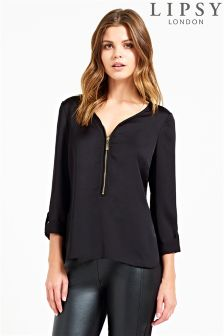 Lipsy Zip Up Blouse
