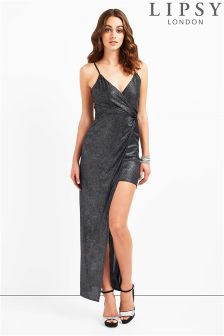 Lipsy High Low Glitter Maxi Dress