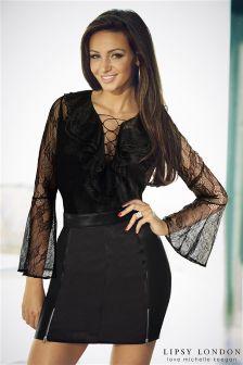 Lipsy Love Michelle Keegan Zip PU Mini Skirt