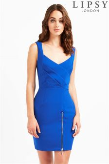 Lipsy Cross Front Bodycon Dress