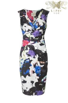 Lipsy VIP Dark Floral Shift Dress