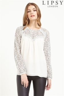 Lipsy Lace Shoulder Blouse